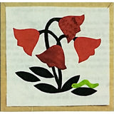 Four Tulips & Worm Quilt Block of the Month Pattern 9 inch Bugs & Blooms c2275
