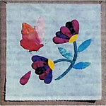Asters & Butterfly Quilt Block of the Month Pattern 9 inch Bugs & Blooms c2279