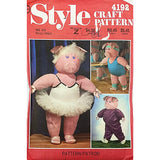 Pig Dance Sport Doll Wardrobe Style Craft 4192 Vintage 1984 Sewing Pattern c2283