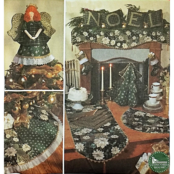 Angel Tree Topper Skirt Pillow Scarf Runner Simplicity 7846 Sewing Pattern c2294
