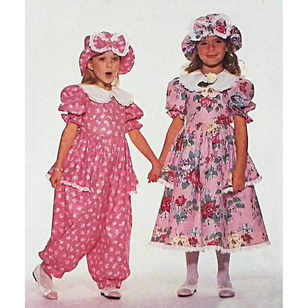 Childrens Dress Jumpsuit Hat Butterick 6671 Sewing Pattern Size 2-4 c2310