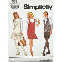 Misses Jumpers Variations Simplicity 7938 Sewing Pattern 1992 Size 12-18 c2322
