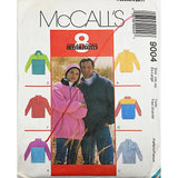 Misses Mens Top Headband McCalls 9004 Sewing Pattern 1997 Size XL c2332