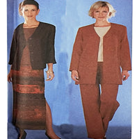 Miss Jacket Top Pants Skirt Simplicity 7099 Sewing Pattern 2002 Size 16-22 c2516