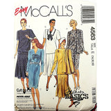 Misses Dress Scarf McCalls 4563 Sewing Pattern Vintage 1989 Size 14-18 c2527