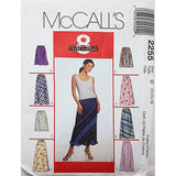 Misses Pull On Skirt McCalls 2255 Sewing Pattern Vintage 1999 Size 12-16 c2536