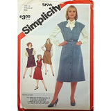 Misses Jumpers Simplicity 5196 Sewing Pattern Vintage 1981 Size 12-16 c2546