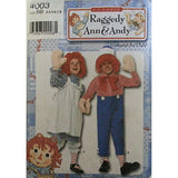 Raggedy Ann & Andy Costume Simplicity 4003 Pattern Child Size BB Unisex c312