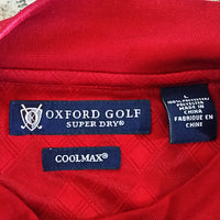 Red Golf Shirt Oxford Gold Mens L Super Dry Cool Max Sport f355