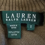 Olive Green Knit Top Ralph Lauren Womens Size S Short Sleeve Shirt f772