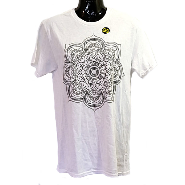 Paint Your Own Mandala Tee Shirt FRZ Womens Size S Short Sleeve Knit Top f820