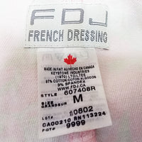 Pink Floral Jacket FDJ French Dressing Womens Size M Stretch Flowers f825