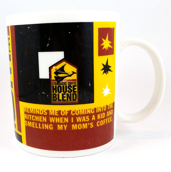 House Blend Starbucks Coffee Mug Cup 1998 12oz Large k356