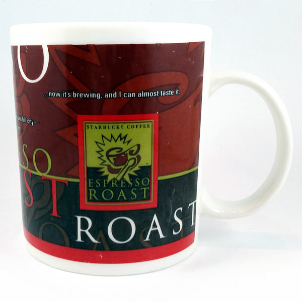 Espresso Roast Starbucks Coffee Mug Cup 1998 12oz Large k357