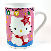 Hello Kitty Christmas Coffee Mug Pink Cat Cup 8oz Holiday 2014 Sanrio k408