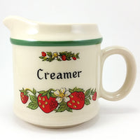 Strawberries Creamer Vintage Fruit Stoneware Japan k599