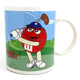 M&M Sports Coffee Mug 10oz Cup Golf Baseball Yellow Red Galerie k529