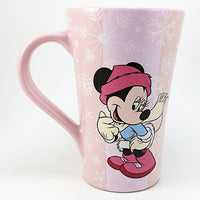 Minnie Mouse Winter Coffee Mug 14oz Disney Store Pink Sugared k684