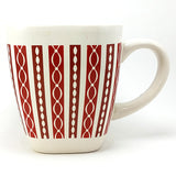 Red Striped Square Coffee Mug Cup 14oz Royal Norfolk Heavy k685