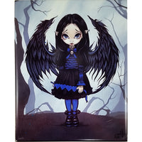 Purple Paper Hearts Art Tile Jasmine Becket Griffith 10x8 in Fairy Fantasy m264