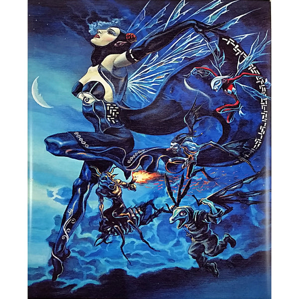Night Spirit Art Tile David Gough 10x8 in Victorian Gothic Fantasy m271