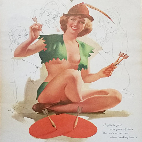 Phyllis Pin Up Mines of Montana September 1955 Vintage Calendar Girl m282