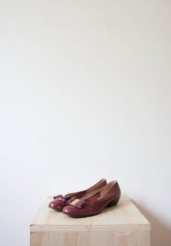 Oxblood Red Ferragamo Flats | Size 7
