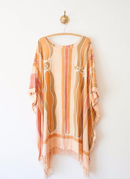 Peachy Hued Cotton Caftan