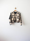 Gold Silk Embroidered Guatemalan Jacket