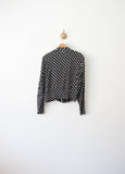 Black Silk Polka Dot Jacket