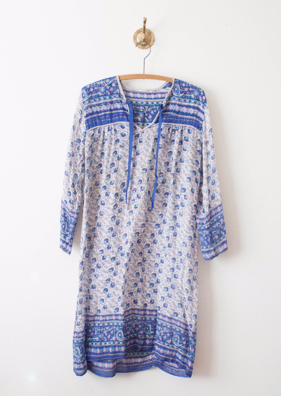 Violet Blue Indian Cotton Dress