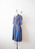 Sapphire Striped Shirt Dress