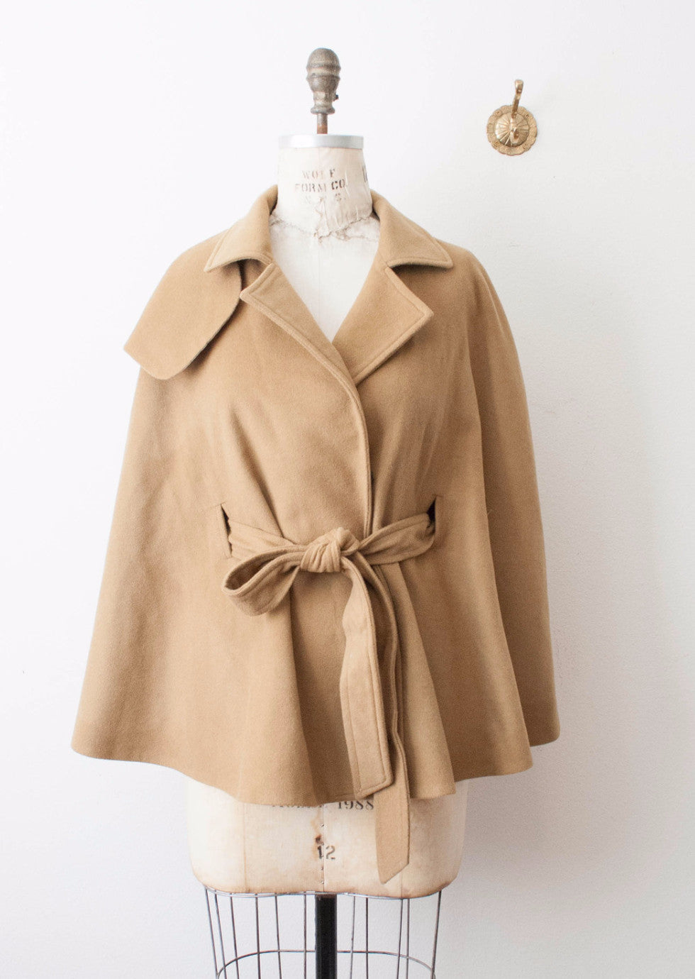 On Reserve | Camel Wool Cape
