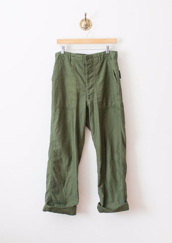 Army Green Cotton Trousers