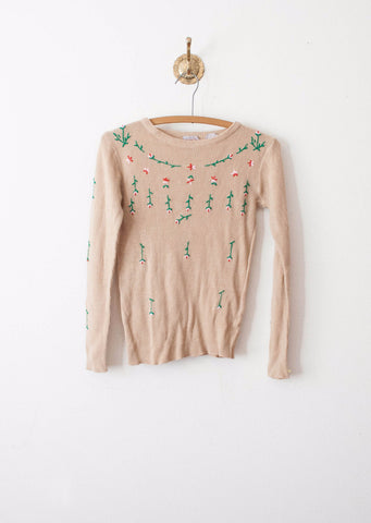 Cappuccino Falling Floras Pullover