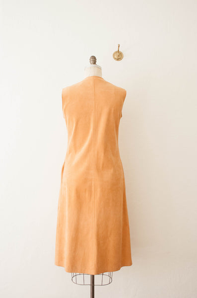 Peach Suede Shift Dress