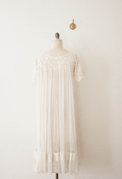 Antique Lace Sheer Dress