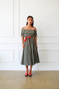 1950s Liberty Print Cotton Smock Dress
