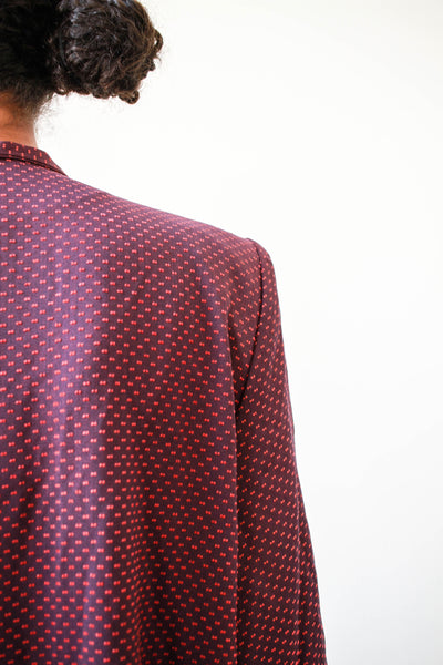 1940s Berry Swiss Dot Coat