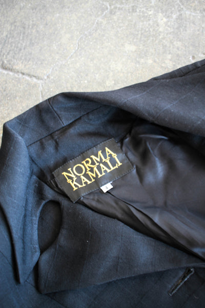 1980s does 1940s Black Norma Kamali Blazer