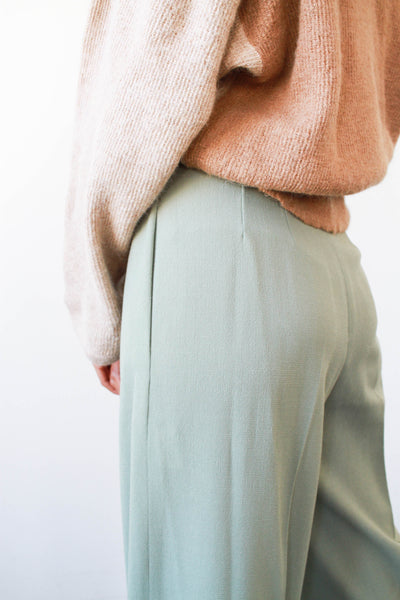 1980s Mint Ungaro Crepe Trousers