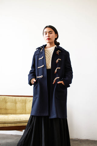 1960s Original Duffer Navy Wool Coat