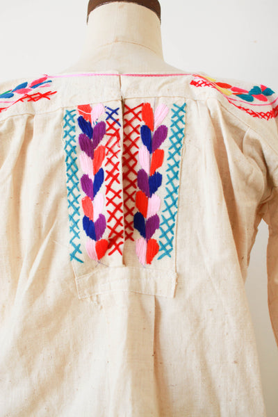 1970s Deadstock Indian Embroidered Tunic Dress