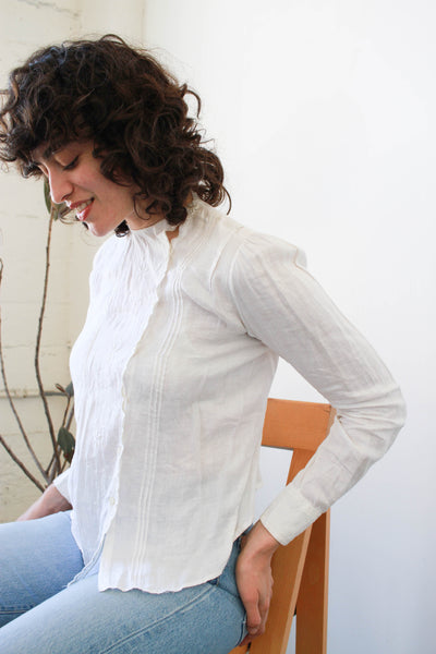 Edwardian Cotton Scalloped Blouse