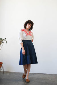 1970s Wrangler Denim Wrap Skirt