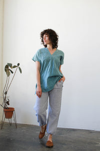 1980s Woven Striped Drawstring Pants