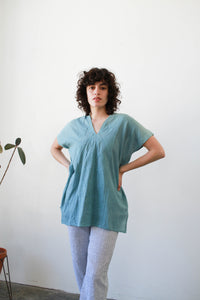 Vintage Dyed Mexican Tunic Blouse