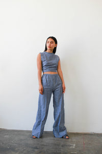 1970s Deadstock Indian Chambray Two-Piece Set