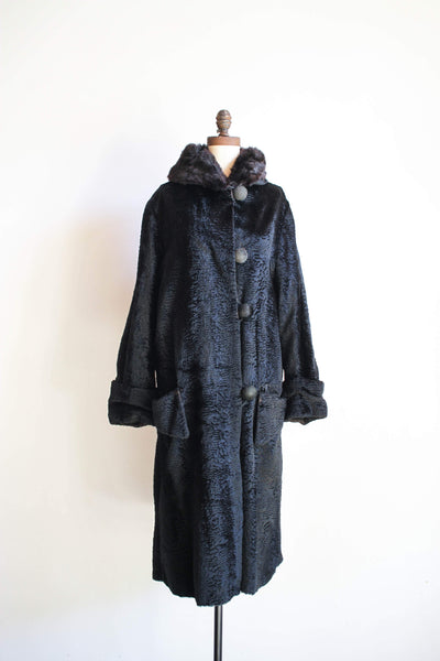 1920s Persian Lamb Full Length Coat