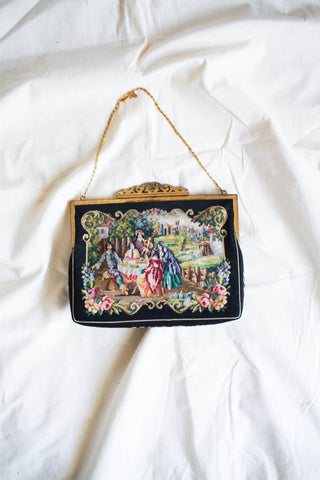 1930s Jolles Original Austrian Petit Point Tapestry Evening Bag
